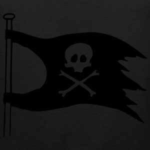Black jolly roger T-Shirts - Men's Premium Tank