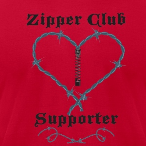 Red zipperclubsupporter Hoodies - Men's T-Shirt by American Apparel