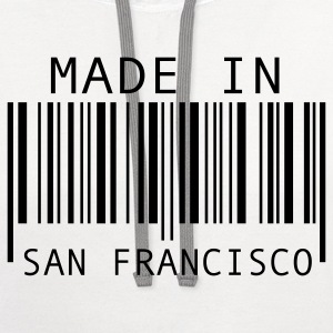 White Made in San Francisco Kids' Shirts - Contrast Hoodie