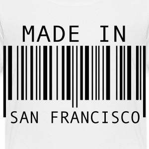 White Made in San Francisco Kids' Shirts - Toddler Premium T-Shirt