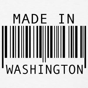 White Made in Washington Buttons - Men's T-Shirt