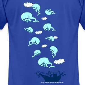 Royal blue Where have the Whales Gone? Hoodies - Men's T-Shirt by American Apparel