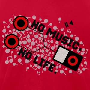 NO MUSIC, NO LIFE. - Men's T-Shirt by American Apparel
