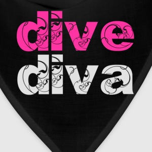 Black dive diva Women's T-Shirts - Bandana