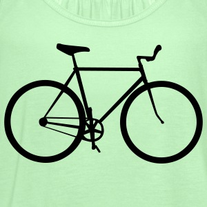 Forest green bicycle T-Shirts - Women's Flowy Tank Top by Bella