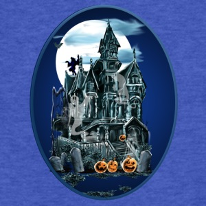 Haunted House Oval - Fitted Cotton/Poly T-Shirt by Next Level