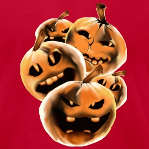 Mean Rotten Halloween Pumpkins - Men's T-Shirt by American Apparel
