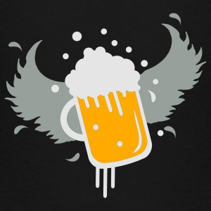 Black Beer glass with wings for Beer Festival visitors. Bags  - Toddler Premium T-Shirt