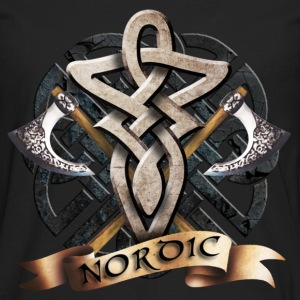 Black tribal_knot_viking_a Hoodies - Men's Premium Long Sleeve T-Shirt