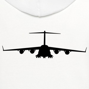 White airplane aircraft T-Shirts - Contrast Hoodie
