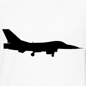 White airplane aircraft fighter jet T-Shirts - Men's Premium Long Sleeve T-Shirt