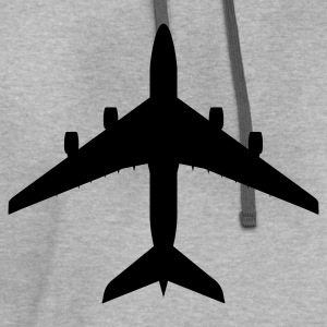 Light oxford airplane aircraft T-Shirts - Contrast Hoodie