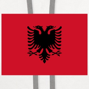 Current Flag of Albania - Contrast Hoodie