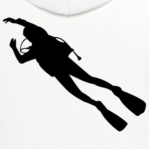 White scuba diver T-Shirts - Contrast Hoodie