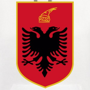 Current Official Coat of Arms of Republic of Albania - Contrast Hoodie