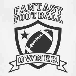 White fantasy football owner T-Shirts - Adjustable Apron
