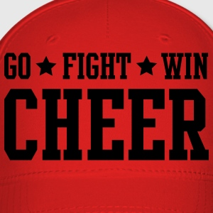 Red cheer go fight win stars Hoodies - Baseball Cap