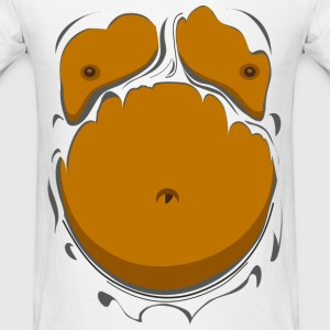Comic Fat Belly, beer gut, beer belly, chest t-shi - Men's T-Shirt