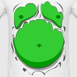 Comic Fat Belly Green, beer gut, beer belly, chest - Men's T-Shirt