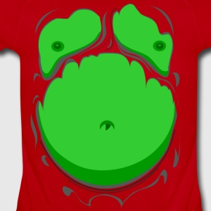 Comic Fat Belly Green, beer gut, beer belly, chest - Short Sleeve Baby Bodysuit