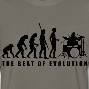 Khaki evolution_drummer_c_1c T-Shirts - Men's Premium Long Sleeve T-Shirt