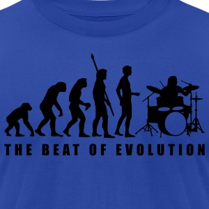 Royal blue evolution_drummer_c_1c Hoodies - Men's T-Shirt by American Apparel