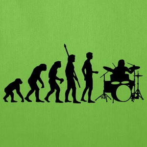 Bright green evolution_drummer_b_1c T-Shirts - Tote Bag
