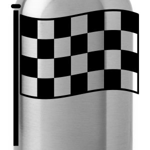 checkered flag RACING motor sport Long Sleeve Shirts - Water Bottle