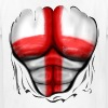 England Flag Ripped Muscles, six pack, chest t-shirt - Kids' T-Shirt