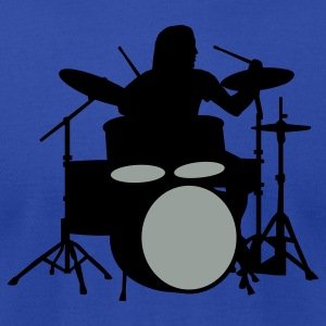 Royal blue drummer_b_2c Hoodies - Men's T-Shirt by American Apparel