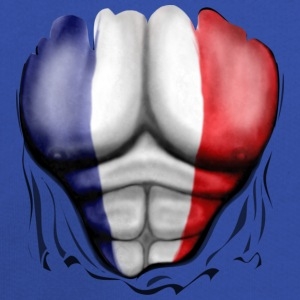 France Flag Ripped Muscles, six pack, chest t-shirt - Kids' Premium Hoodie