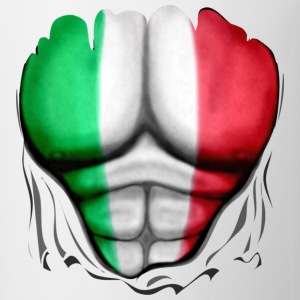 Italy Flag Ripped Muscles, six pack, chest t-shirt - Coffee/Tea Mug