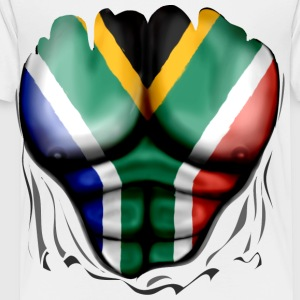 South Africa Flag Ripped Muscles, six pack, chest t-shirt - Toddler Premium T-Shirt