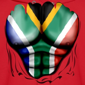 South Africa Flag Ripped Muscles, six pack, chest t-shirt - Men's Hoodie