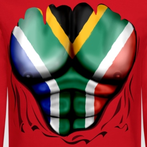 South Africa Flag Ripped Muscles, six pack, chest t-shirt - Crewneck Sweatshirt