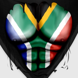 South Africa Flag Ripped Muscles, six pack, chest t-shirt - Bandana