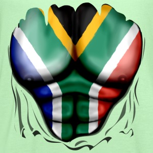 South Africa Flag Ripped Muscles, six pack, chest t-shirt - Women's Flowy Tank Top by Bella