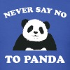 Royal blue Never Say No To Panda - White T-Shirts - Men's T-Shirt