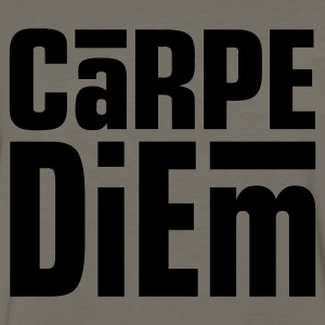 Carpe Diem Dark on Standardweight Shirt - Men's Premium Long Sleeve T-Shirt
