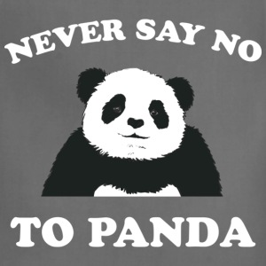 Deep heather Never Say No To Panda - White Women's T-Shirts - Adjustable Apron