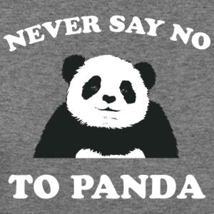 Deep heather Never Say No To Panda - White Women's T-Shirts - Women's Wideneck Sweatshirt