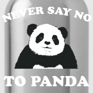 Deep heather Never Say No To Panda - White Women's T-Shirts - Water Bottle