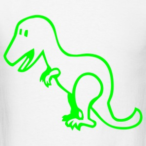 White Dinosaur - Dino Baby Body - Men's T-Shirt