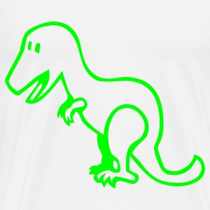 White Dinosaur - Dino Baby Body - Men's Premium T-Shirt