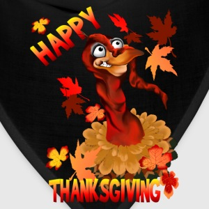 Thanksgiving Turkey and Autumn Leaves - Bandana