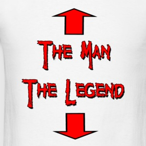 White The Man The Legend Long Sleeve Shirts - Men's T-Shirt