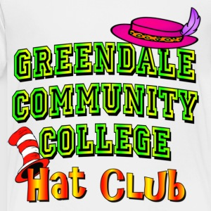 White Greendale Community College Hat Club Kids' Shirts - Toddler Premium T-Shirt
