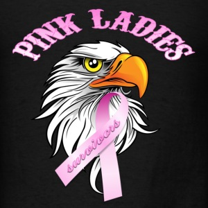 Black Pink Ladies Eagle Head Cancer Survivor  Long Sleeve Shirts - Men's T-Shirt