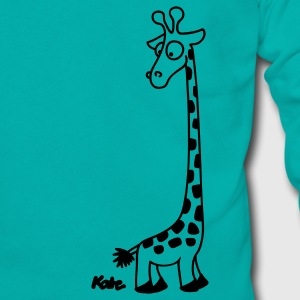 Teal Giraffe Women's T-Shirts - Unisex Fleece Zip Hoodie by American Apparel