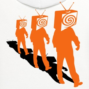 White Televized 3 T-Shirts - Contrast Hoodie